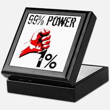 99% Power Occupy Keepsake Box