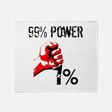 99% Power Occupy Throw Blanket