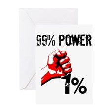 99% Power Occupy Greeting Cards