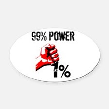 99% Power Occupy Oval Car Magnet