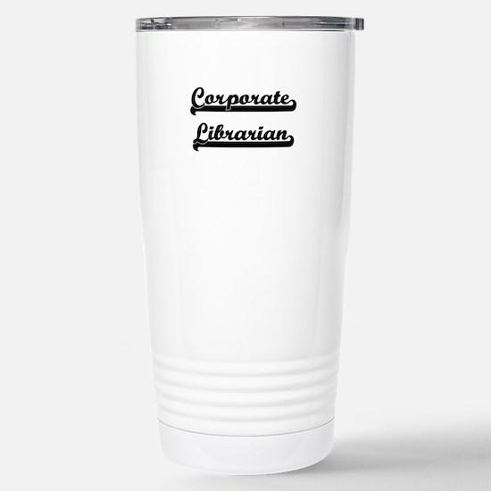 Corporate Librarian Art Stainless Steel Travel Mug