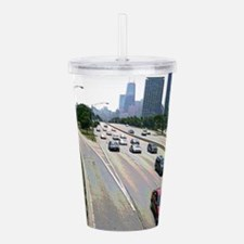 Chicago Traffic in Sandstone Acrylic Double-wall T