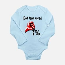 Funny Eat The Rich Occupy Body Suit