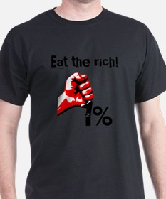 Funny Eat The Rich Occupy T-Shirt
