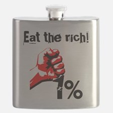Funny Eat The Rich Occupy Flask