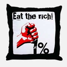 Funny Eat The Rich Occupy Throw Pillow