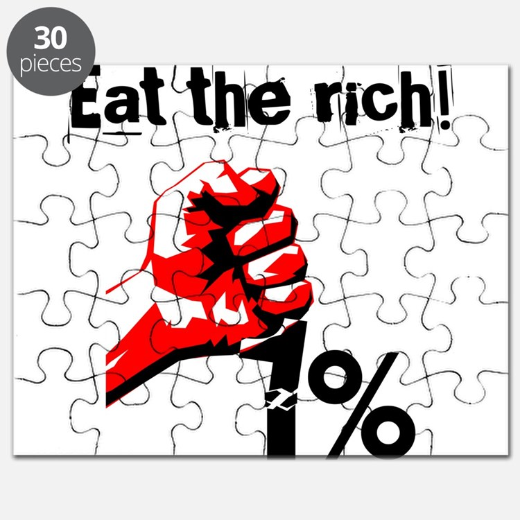 Funny Eat The Rich Occupy Puzzle