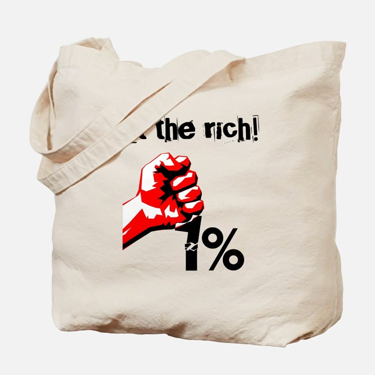 Funny Eat The Rich Occupy Tote Bag