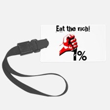 Funny Eat The Rich Occupy Luggage Tag