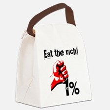 Funny Eat The Rich Occupy Canvas Lunch Bag