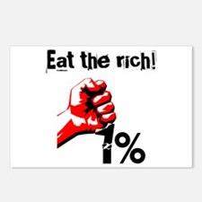 Funny Eat The Rich Occupy Postcards (Package of 8)