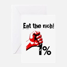 Funny Eat The Rich Occupy Greeting Cards