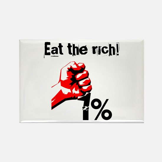Funny Eat The Rich Occupy Magnets