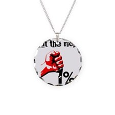 Funny Eat The Rich Occupy Necklace