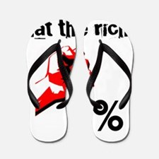 Funny Eat The Rich Occupy Flip Flops