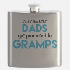 BEST DADS GET PROMOTED TO GRAMPS Flask