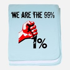We Are The 99% Occupy baby blanket