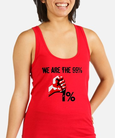 We Are The 99% Occupy Racerback Tank Top