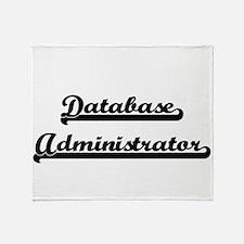Database Administrator Artistic Job Throw Blanket