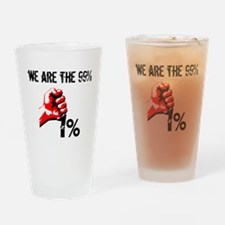 We Are The 99% Occupy Drinking Glass