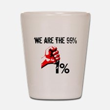 We Are The 99% Occupy Shot Glass