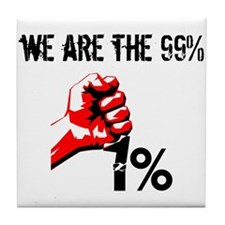 We Are The 99% Occupy Tile Coaster