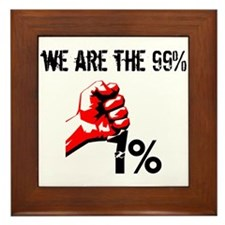 We Are The 99% Occupy Framed Tile