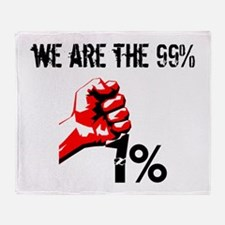 We Are The 99% Occupy Throw Blanket