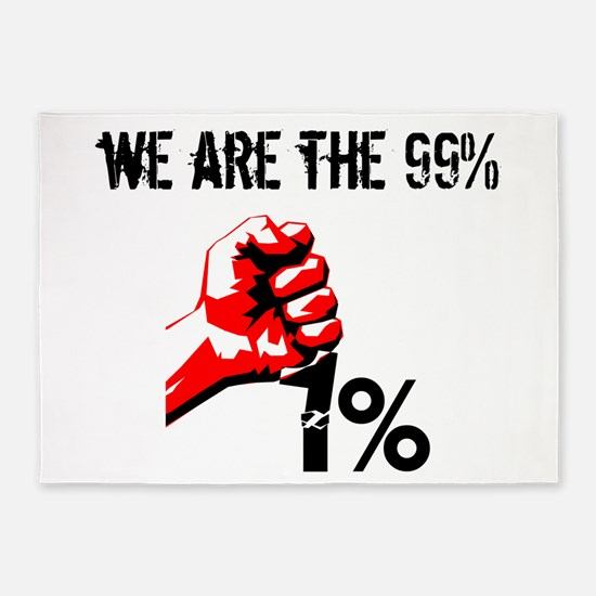 We Are The 99% Occupy 5'x7'Area Rug