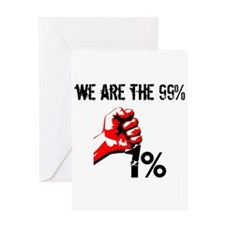We Are The 99% Occupy Greeting Cards