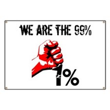 We Are The 99% Occupy Banner