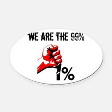 We Are The 99% Occupy Oval Car Magnet