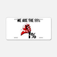 We Are The 99% Occupy Aluminum License Plate