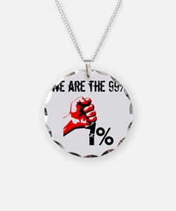 We Are The 99% Occupy Necklace