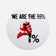 We Are The 99% Occupy Ornament (Round)