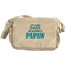 BEST DADS GET PROMOTED TO PAPAW Messenger Bag