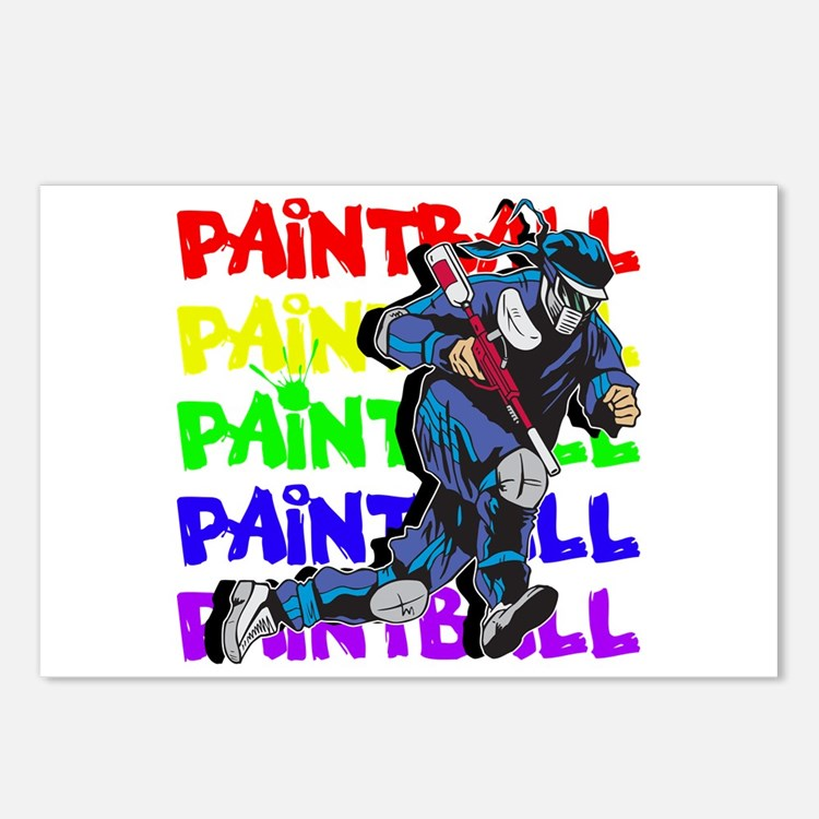 Paintball Player Postcards (Package of 8)