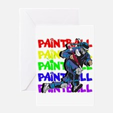 Paintball Player Greeting Card