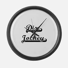 Disc Jockey Artistic Job Design Large Wall Clock