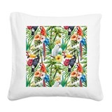 Macaw Square Canvas Pillows