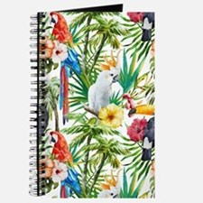 Tropical Flowers and Macaw Journal