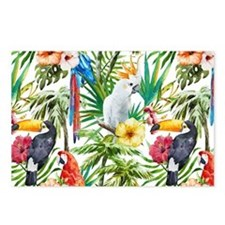 Tropical Flowers and Maca Postcards (Package of 8)