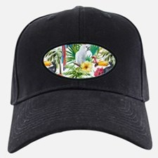 Tropical Flowers and Macaw Baseball Hat
