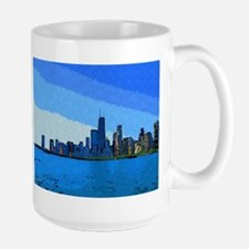 Chicago Park in Collage Paint Mugs