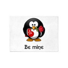 Be Mine Penguin 5'x7'Area Rug