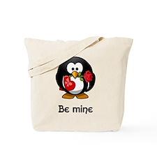 Be Mine Penguin Tote Bag