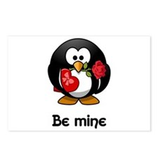 Be Mine Penguin Postcards (Package of 8)