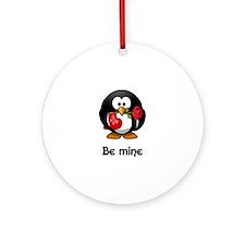 Be Mine Penguin Ornament (Round)