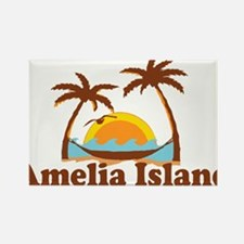Amelia Island - Palm Trees Design. Magnets