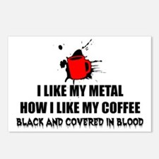 Metal and Coffee Postcards (Package of 8)